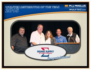 Distributeur de l'année - 2015 / Distributor of the year - 2015 | Sigma Supply